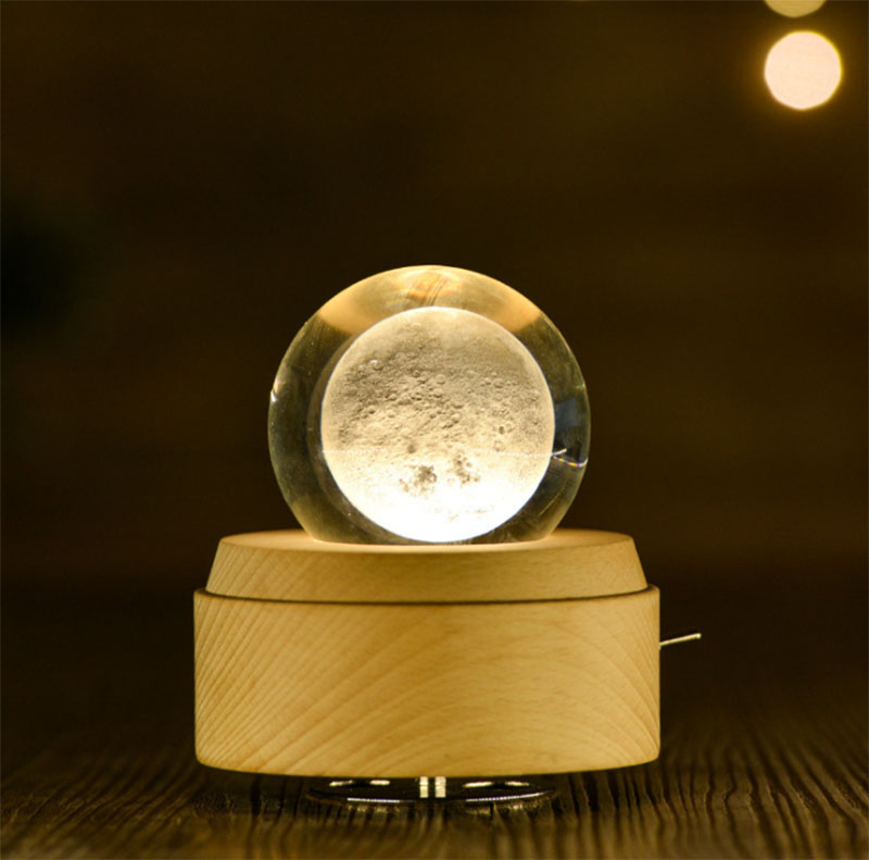 3D Multi Color Crystal Ball Musical Box