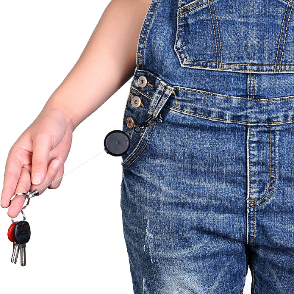 Retractable Key Chain ID Badge Holder