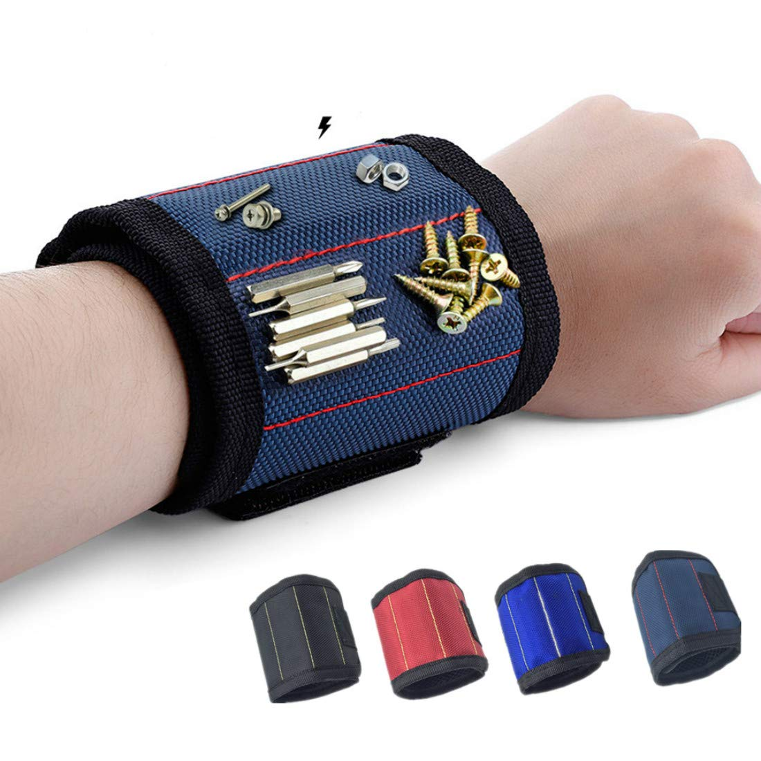 Magnetic Tool Wristband Holding Tools
