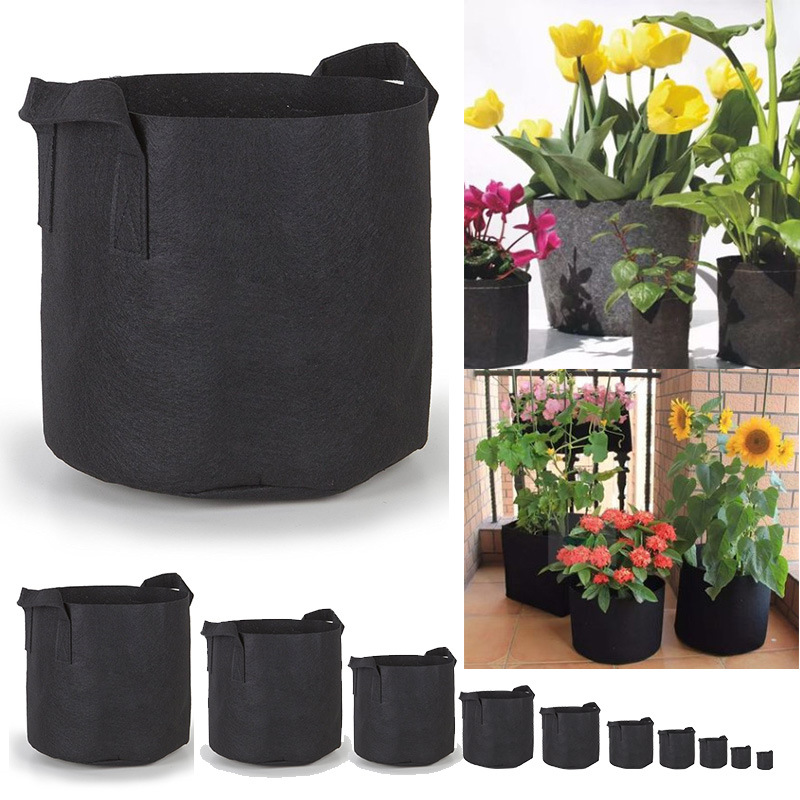 Grow Bags Aeration Fabric Pots w/ Handles