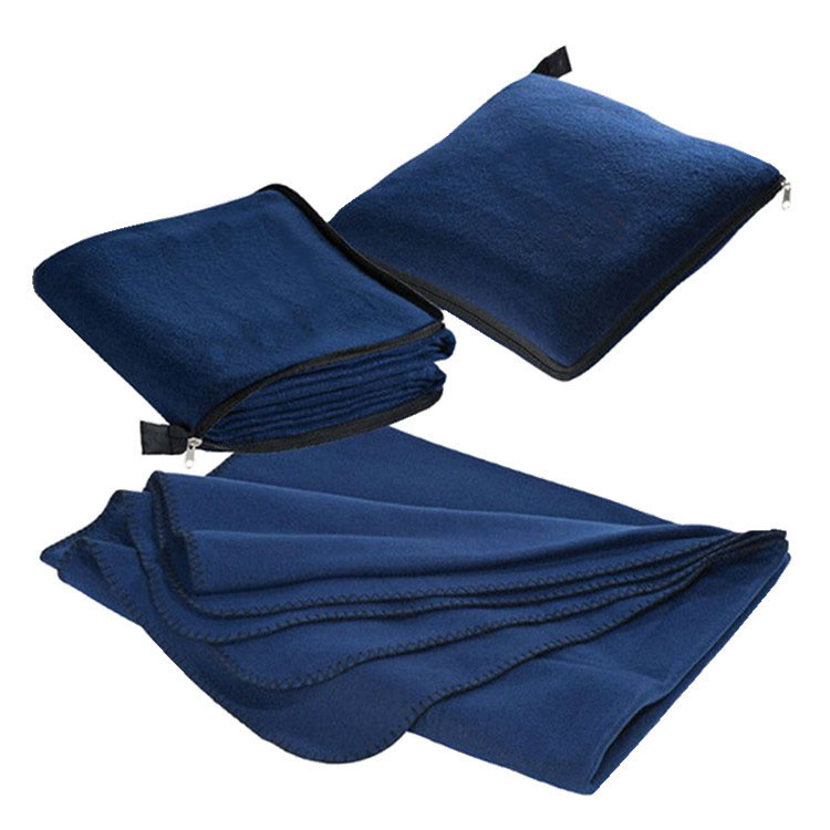 Ultra Soft Polar Fleece Travel Blanket w/ Zipper Bag