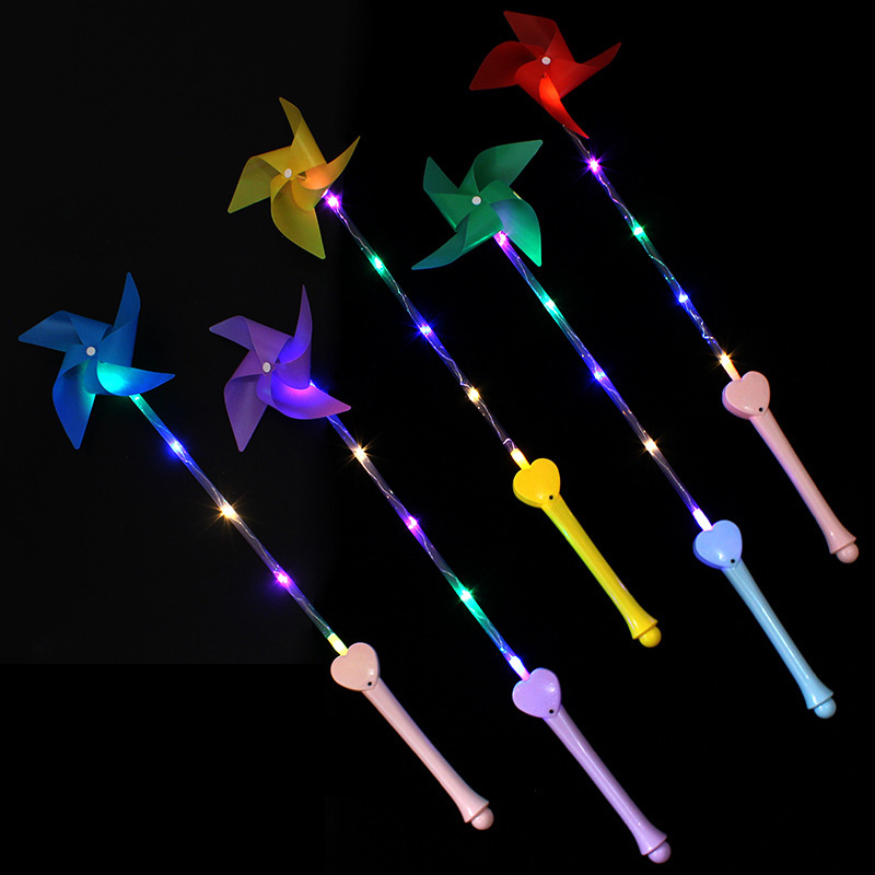 Flashing LED Windmill Kids Toys