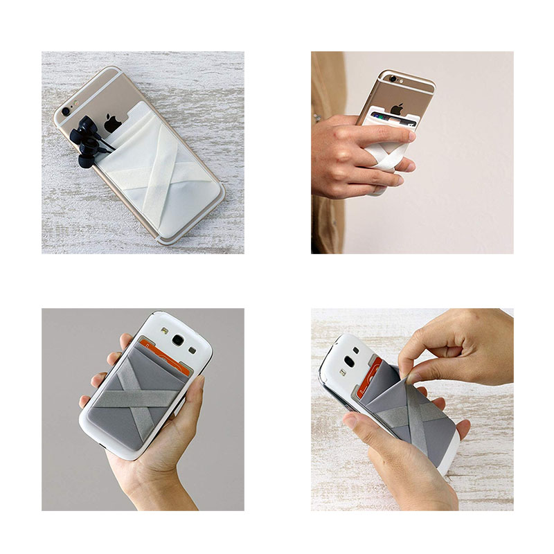 Double Pocket Smartphone Wallet w/ Finger Strap