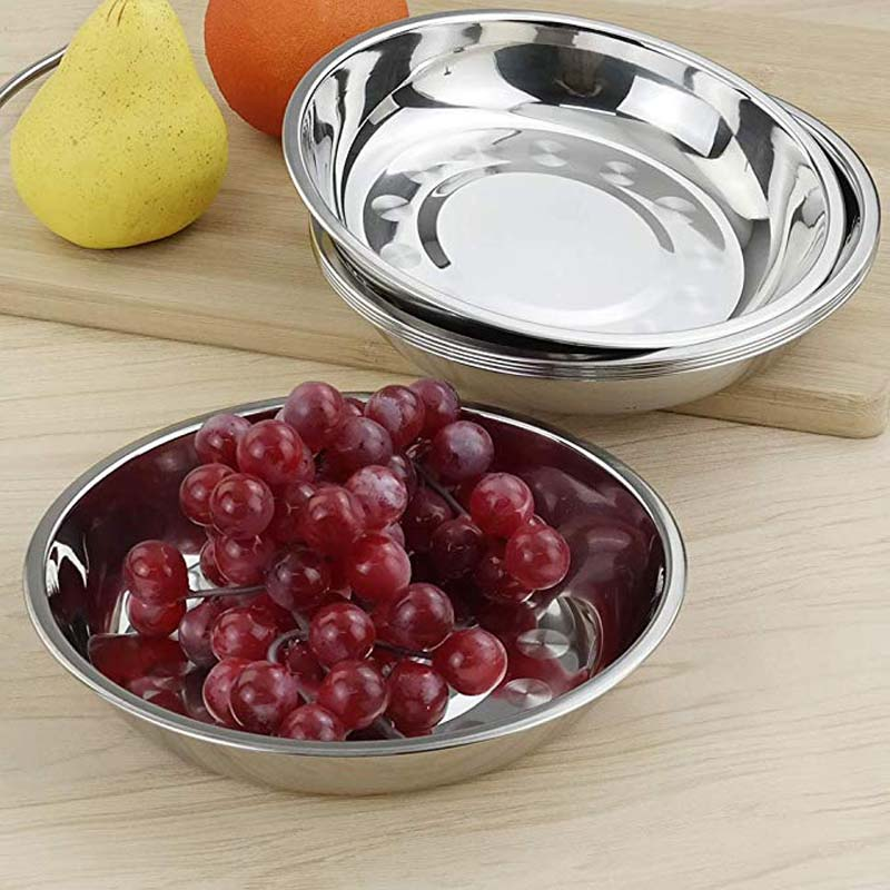 Stainless Steel Dinner Plates Dish