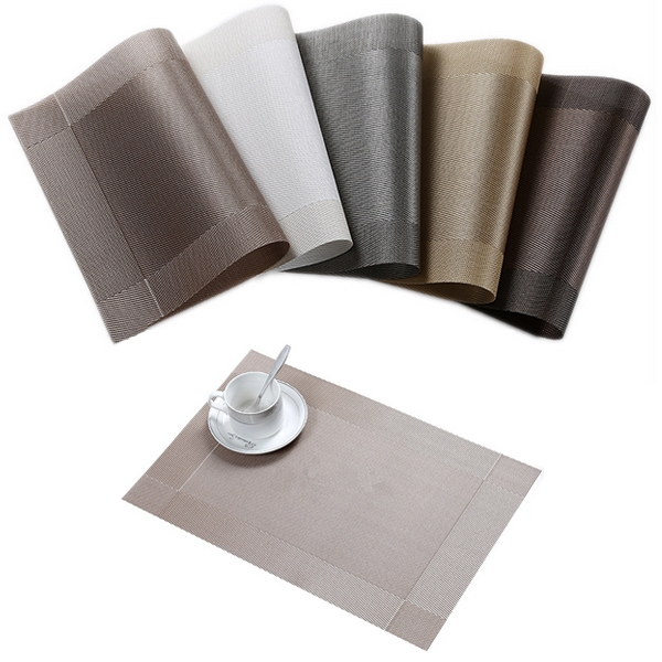 Woven Table Mats PVC Heat Resistant Non Slip