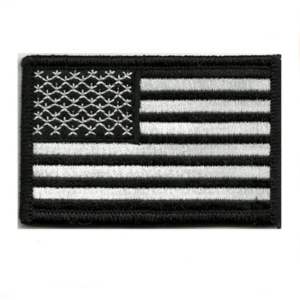 Iron on USA American Flag Embroidery Patch