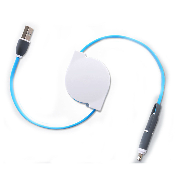 2 IN 1 Retractable Charging Data Sync Cable