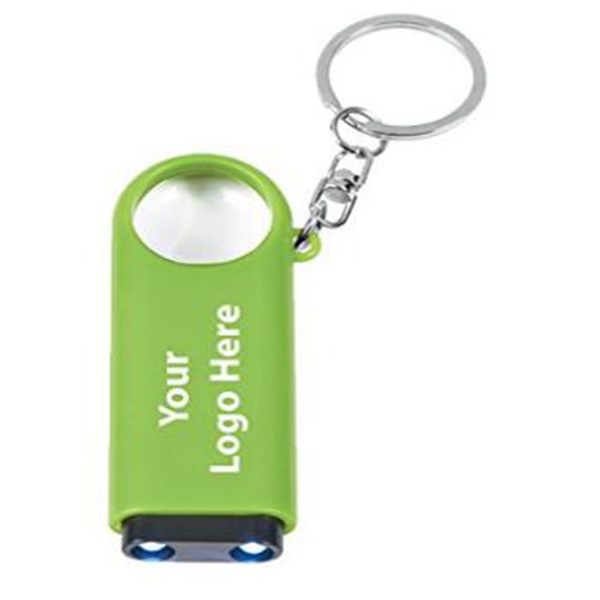 LED Light Keychain&Magnifier