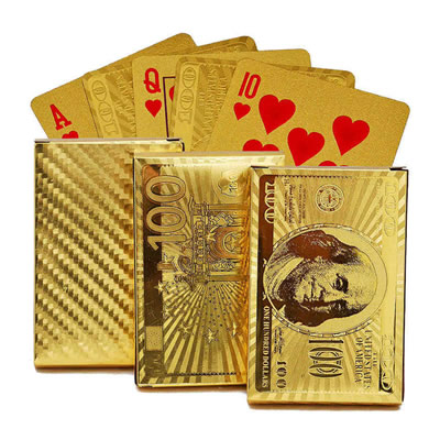 Waterproof Gold Foil Poker Playing Cards