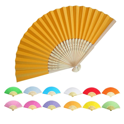 Bamboo & Paper Handheld Folding Fan