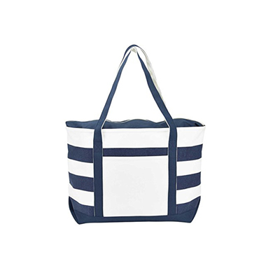 Striped Boat Bag
