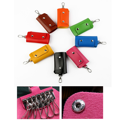 PU Leather Car Keychain Key Holder Bag