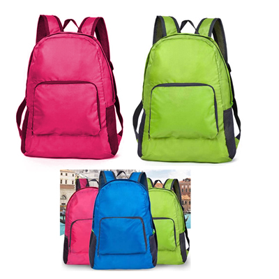 Foldable backpack traveling school bags