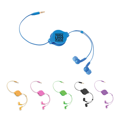 Retractable Stereo Earbuds