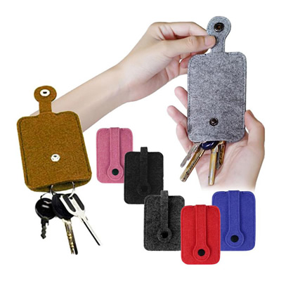 Fashion Woolen Felt Car Key Chain Wallet