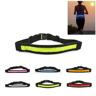 LED Running Waist Belt Sport Reflective Band