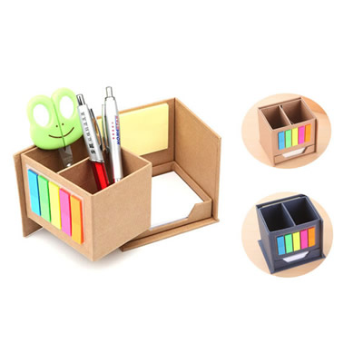 Pen Container Sticky Notes Set