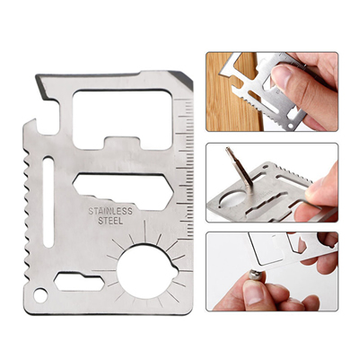 11 in 1 Multifunction Outdoor Card Tools