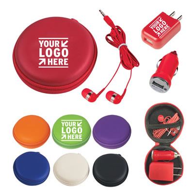 3-In-1 Earbuds Travel Kit