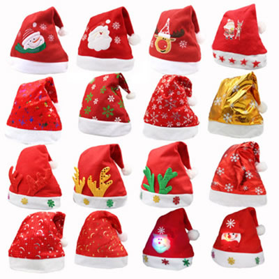Funcy Mix Design Santa Party Christmas Hats