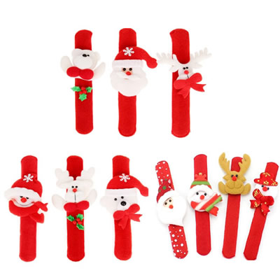 Assorted Christmas Slap Bracelets Gift