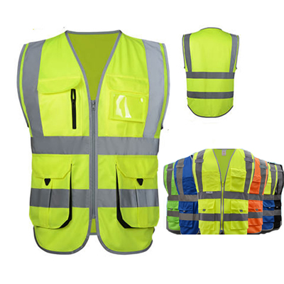 High Visibility Reflective Safety Vest Workwear