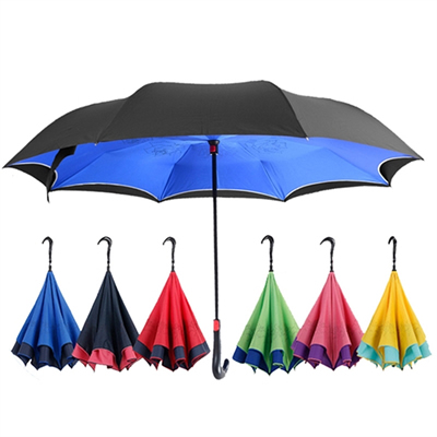 Automatic Close Double Layer Inverted Umbrella