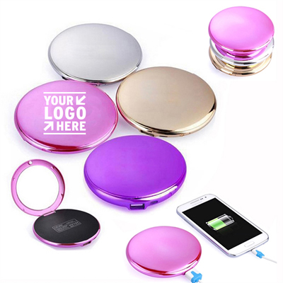 Portable Compact Power Bank Charger With Mirror