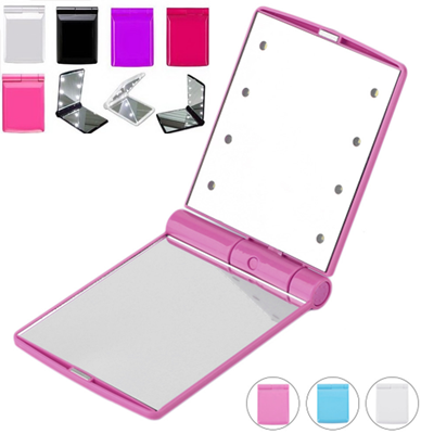Foldable LED Make Up Mirror