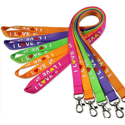 Polyester Woven Lanyard With Snap Buckle Release