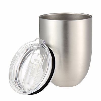9oz Stainless Steel Double Wall Insulated Wine Cup with Lip