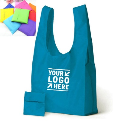 Folding Shopping Tote Bag Grocery Bags w/ Pocket