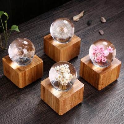 Multi Color Specimen Crystal Ball Musical Box