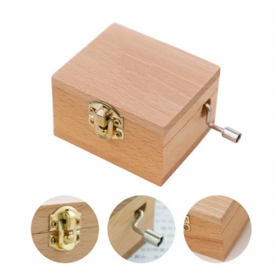 Customize Hand Cranked Wooden Music Box