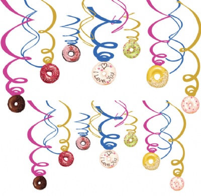 Donut Hanging Swirl Festive Party Decorations