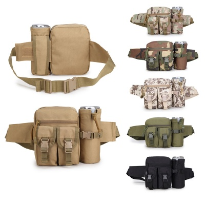Tactical Waist Pack Pouch with Water Bottle Pocket Holder