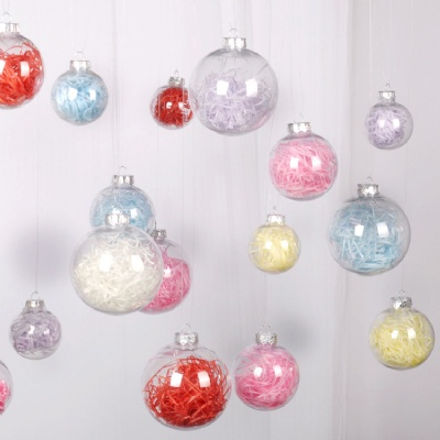 Transparent Fillable Ball Christmas Decorations