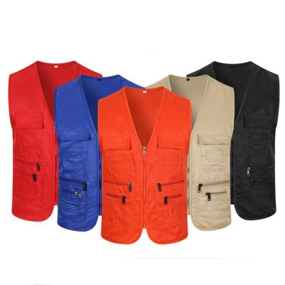 Unisex Work Vest Multi-Pockets