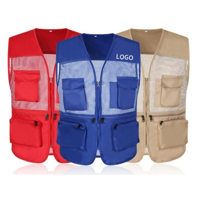 Breathable Mesh Travel Work Fishing Vest