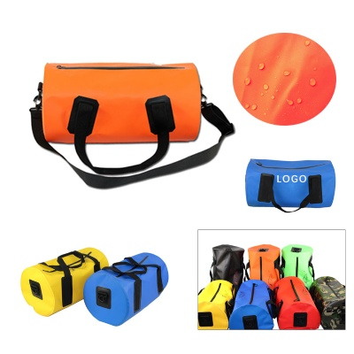 Waterproof PVC Duffle Bag Cylindric Rafting Package