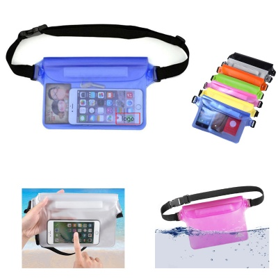 Transparent Waterproof Pouch with Waist Strap