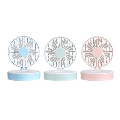 Handheld Mini USB Fan with Makeup Mirror Lanyard
