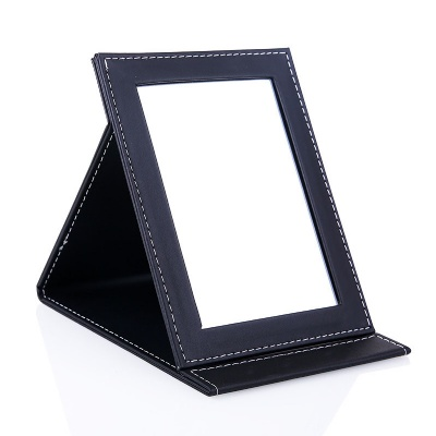 Portable PU Leather Folding Makeup Mirror