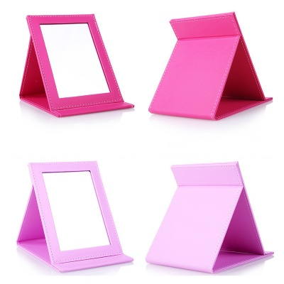 PU Leather Folding Makeup Mirror