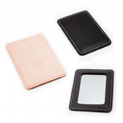PU Leather Case Pocket Makeup Mirror