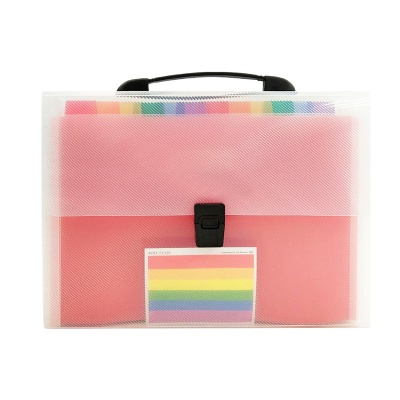 13 Pockets Portable Rainbow File Folders