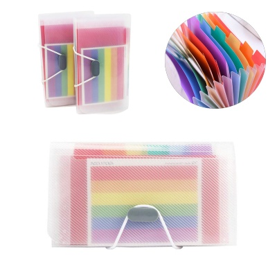 13 Pockets Rainbow A6 Mini Expanding Receipt Folder