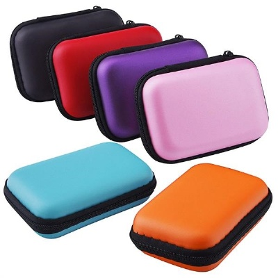 Portable Earphone Headphone Storage Case Purse