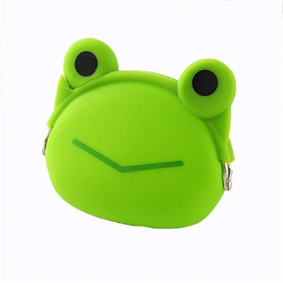 Silicone Frog Coin Purse Rubber Wallet