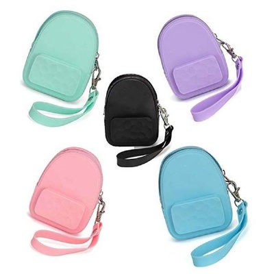 Silicone Backpack Shaped Coin Purse Bag
